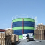 מפעל פלרם, רמת יוחנן- מיכל מים, כיבוי אש (ספרינקלרים)
